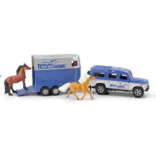 Breyer Farms Land Rover and Tag-A-Long Trailer