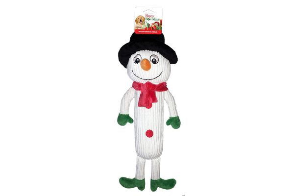 Southern Agriculture Plush Holiday Shake & Squeak Snowman - Southern Agriculture