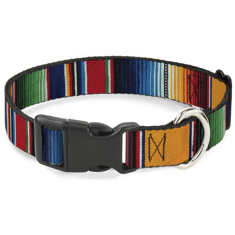 Dog Collar Nylon Adjustable Zarape Multi By Buckle-Down - Southern Agriculture