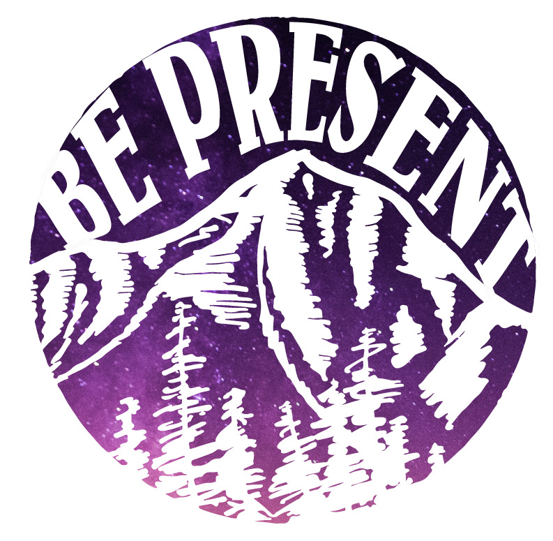 Be Present Mountain Vinyl Sticker