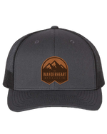 WAHE Badge Leather Patch Hat