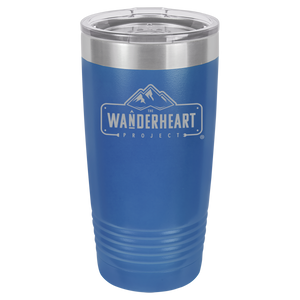 The Wanderheart Project Logo Premium 20 oz. Tumbler