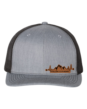 Follow Your Heart Leather Patch Hat