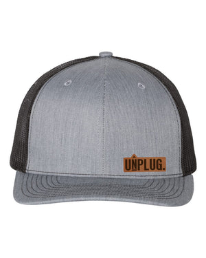 UNPLUG. Leather Patch Hat