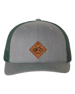 Mountain Bike Leather Patch Hat