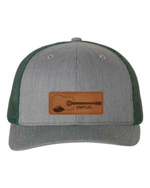 Guitar Leather Patch Hat