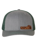 UNPLUG (MI) Leather Patch Hat