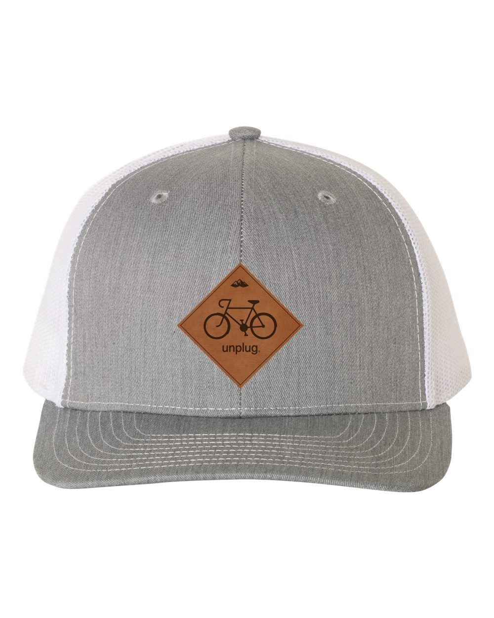 Road Bike Leather Patch Hat