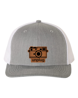 Retro Camera Leather Patch Hat