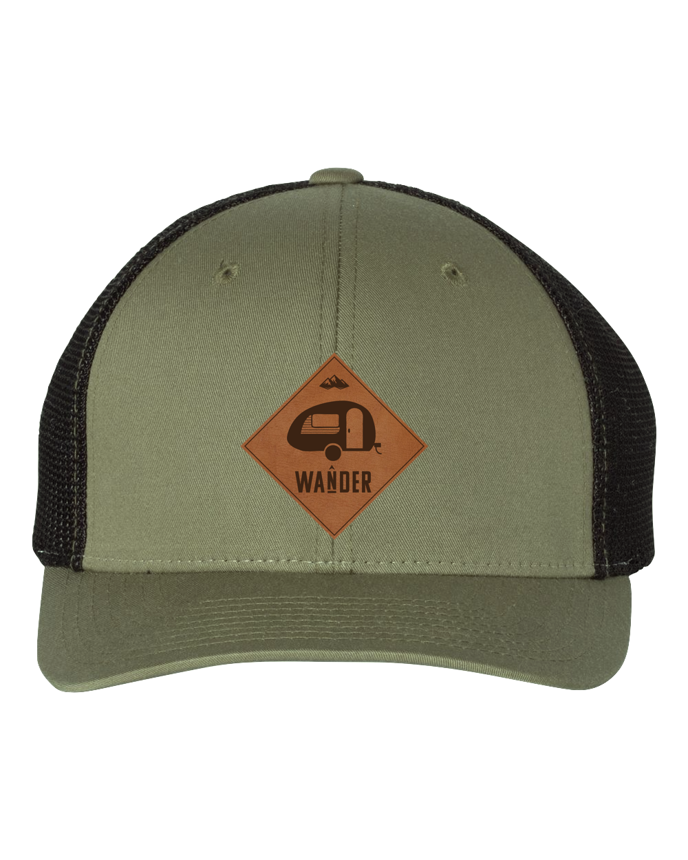 Wander Camper Leather Patch Hat