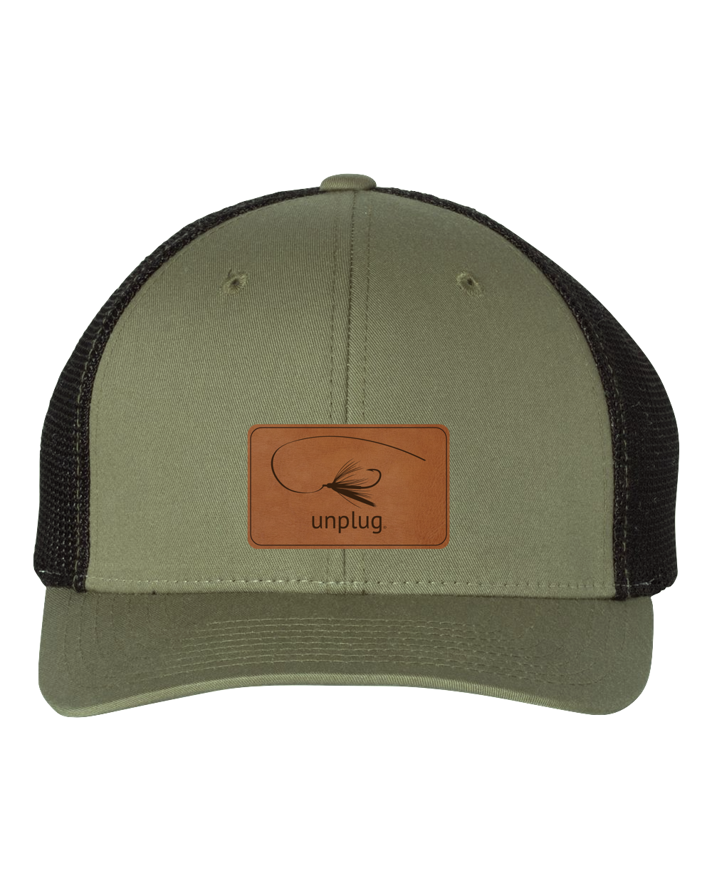 Fly Fishing Leather Patch Hat