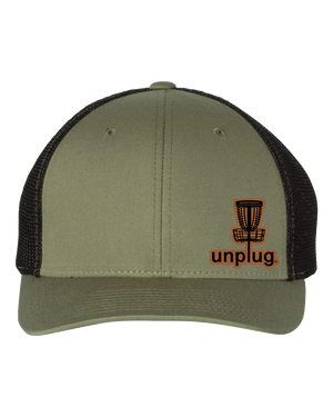 Disc Golf Leather Patch Hat