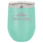 The Wanderheart Project Logo Premium 12 oz. Wine Tumbler