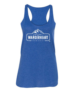 The Wanderheart Project Logo Premium Triblend Tank