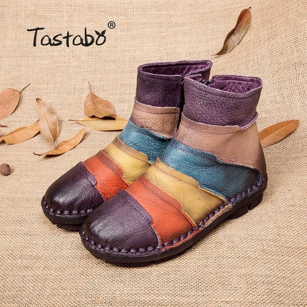b9e85fd4a3 ... Handmade Women Boots Lady. Tastabo Hot Sale Shoe Martin Boots Genuine  Leather Ankle Shoes Vintage Casual Shoes Brand Design Retro