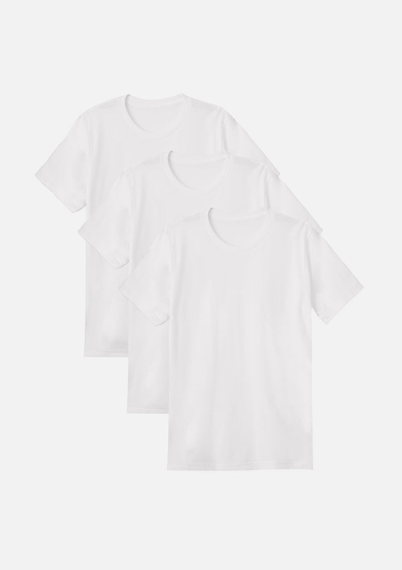mens airlume cotton crew tee white bundle
