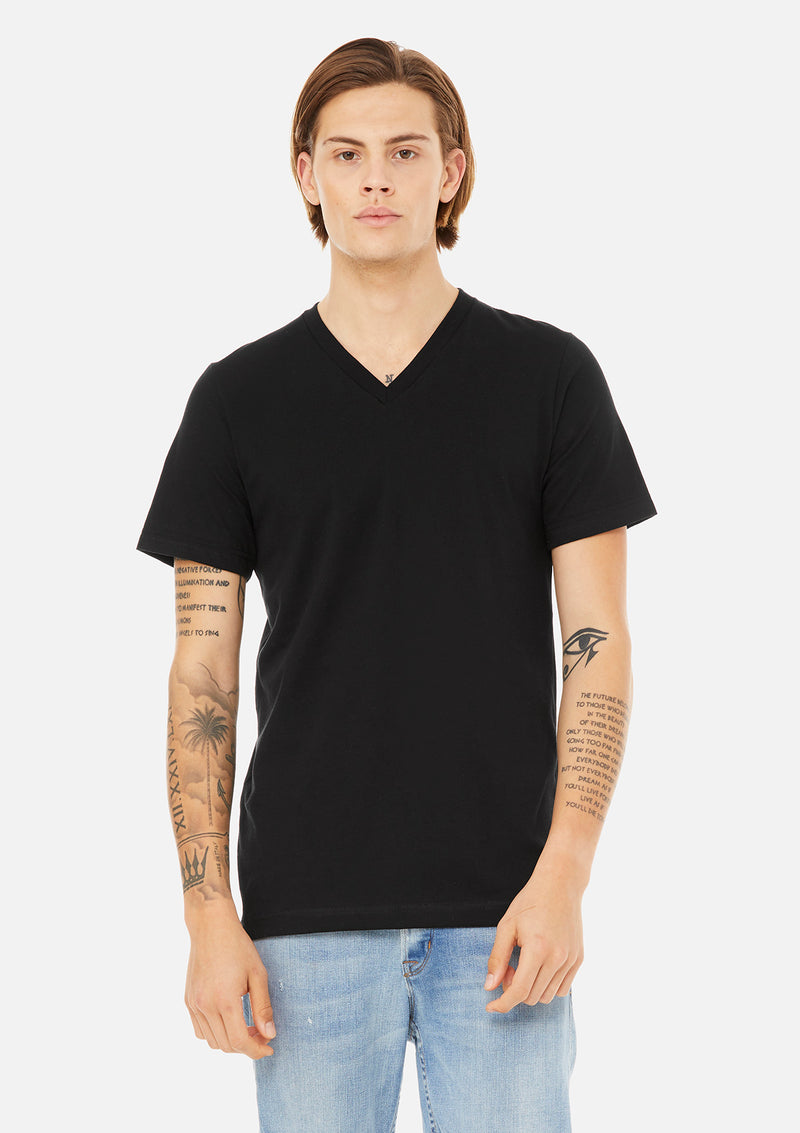 mens airlume cotton vneck tee black bundle