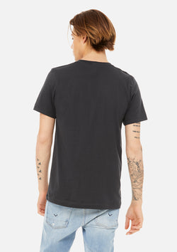 mens airlume cotton vneck tee dark grey