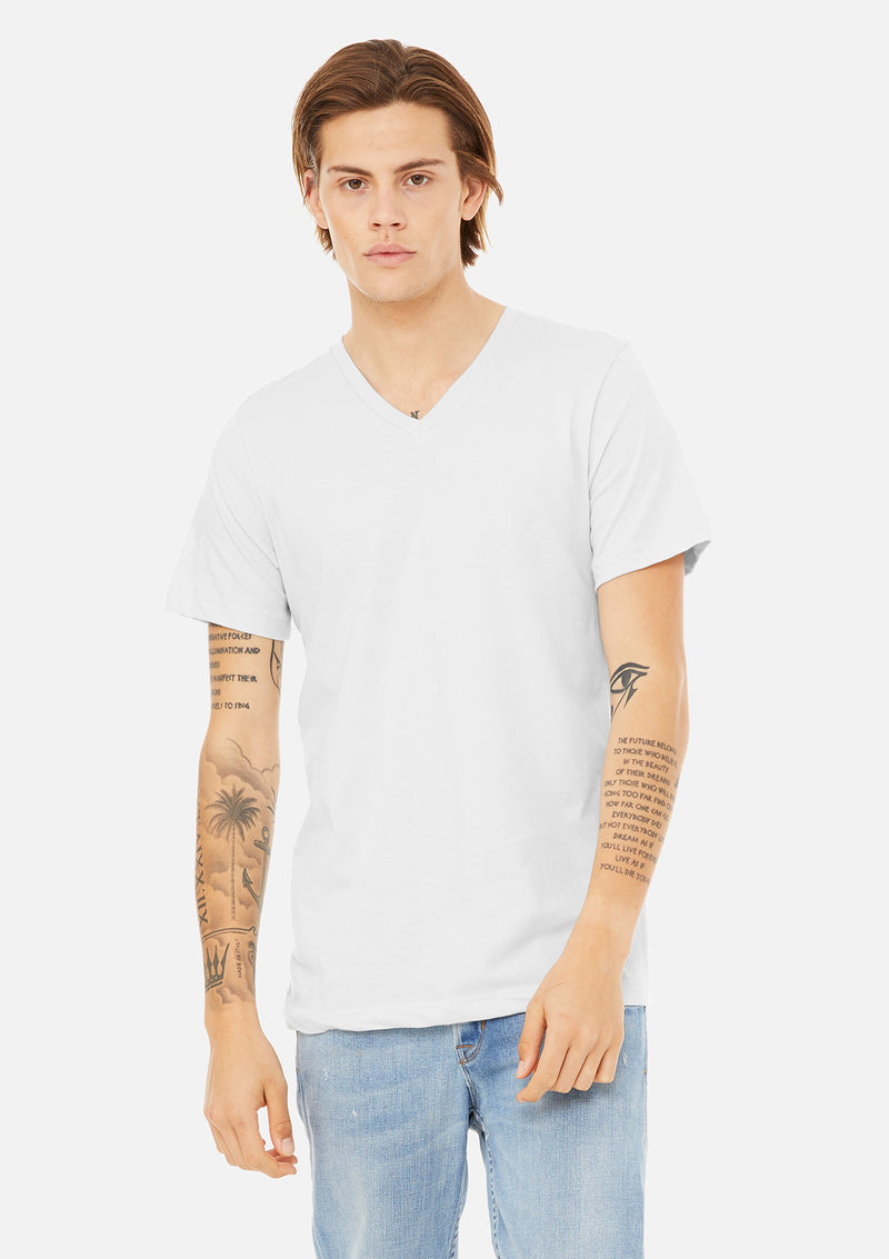 mens airlume cotton vneck tee white bundle