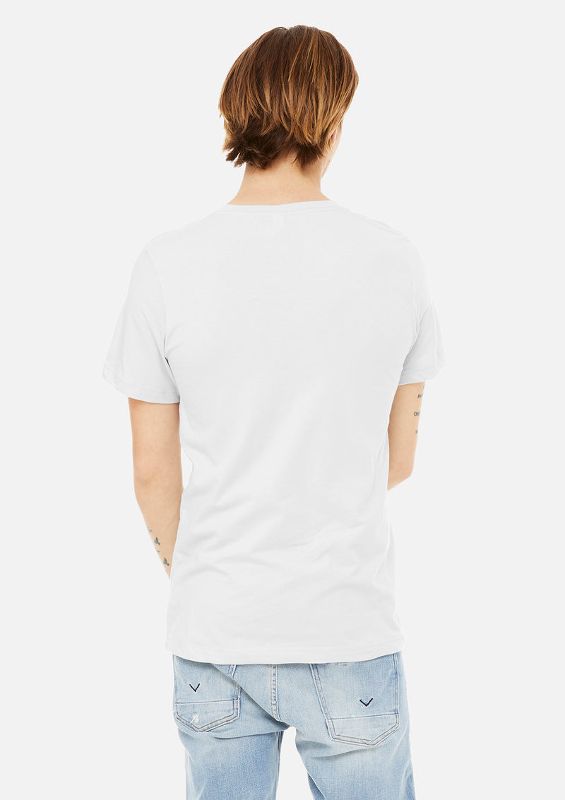 mens airlume cotton vneck tee white