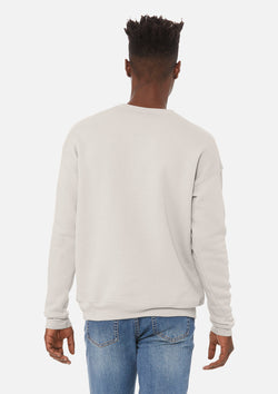 mens classic crew sweatshirt heather dust
