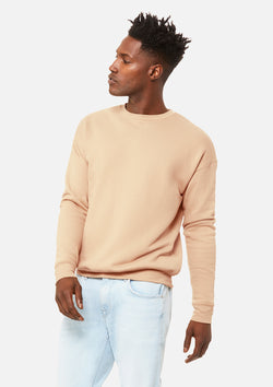 mens classic crew sweatshirt heather sand dune