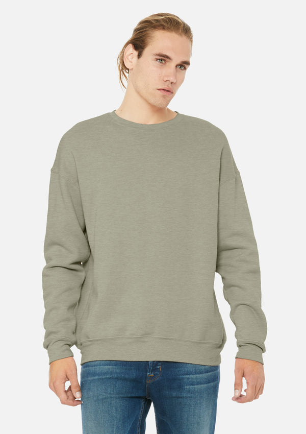 mens classic crew sweatshirt heather stone