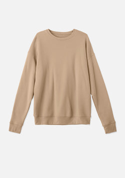 mens classic crew sweatshirt tan