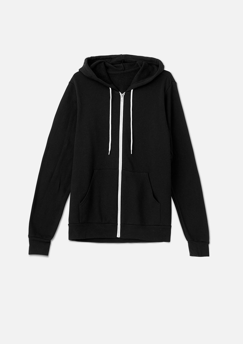 mens original zip hoodie black