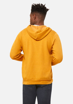 mens original zip hoodie heather mustard