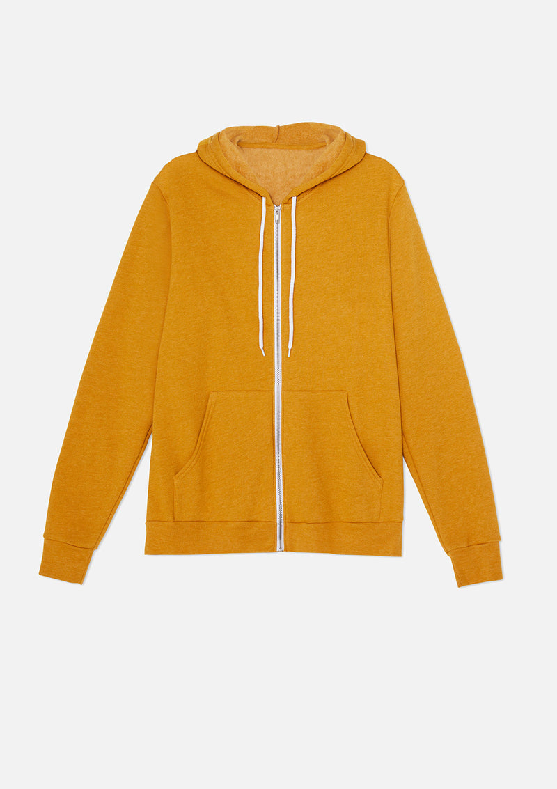 mens original zip heather mustard