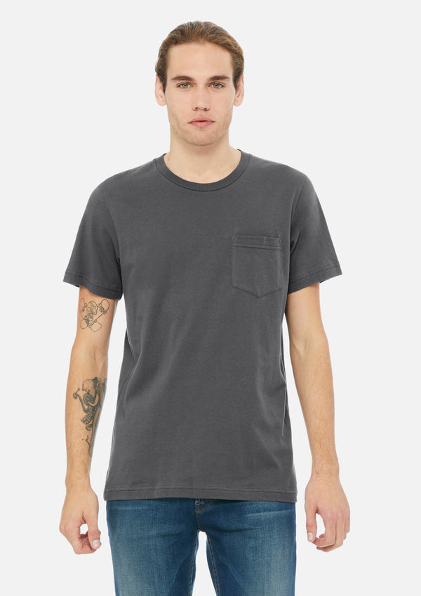 mens pocket tee asphalt