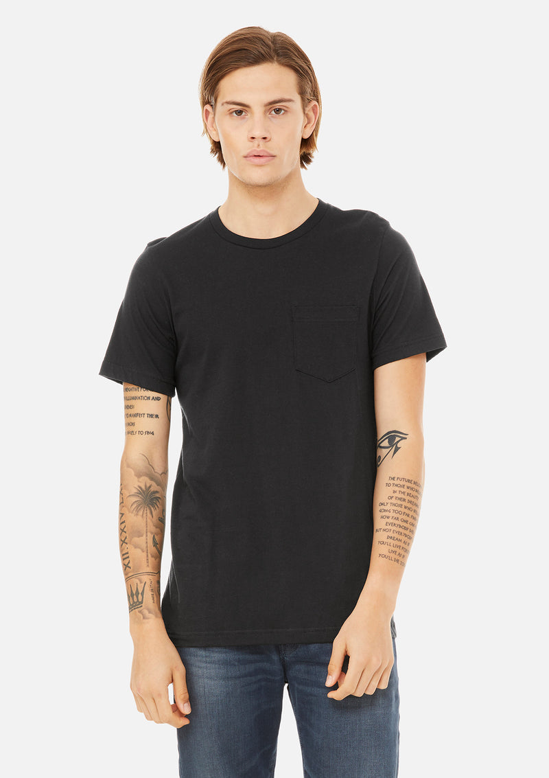 mens pocket tee black