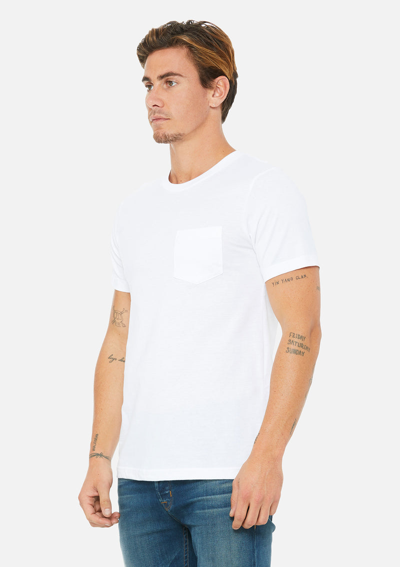 mens pocket tee white
