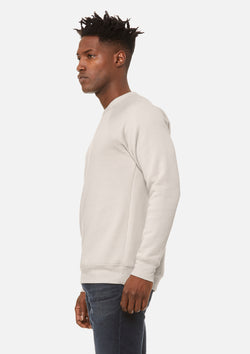mens raglan sweatshirt heather dust