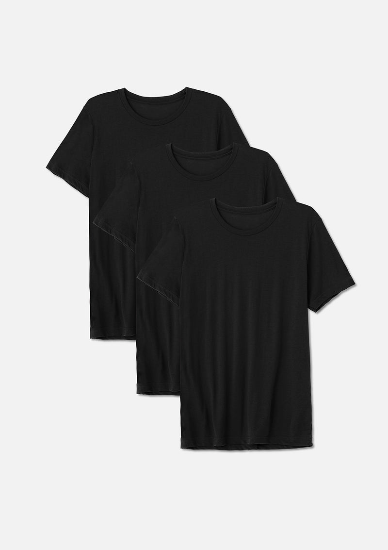 mens triblend crew tee black bundle