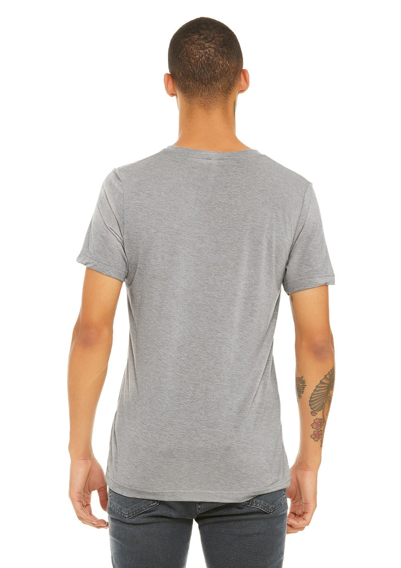 mens triblend vneck tee athletic grey