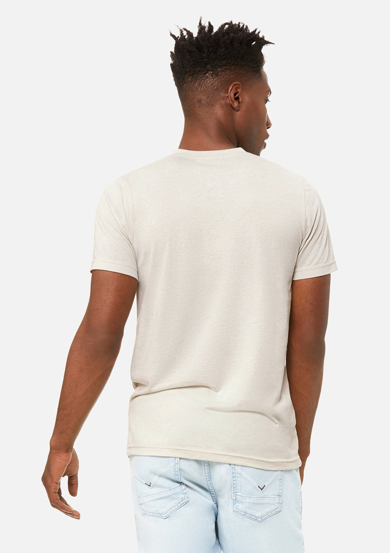 mens triblend vneck tee cement