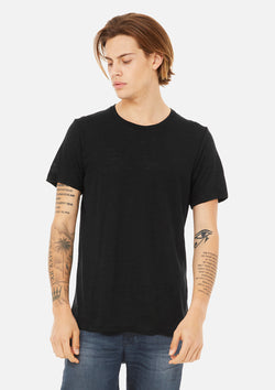 mens vintage slub crew tee black bundle