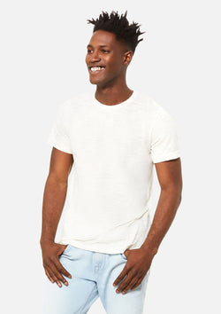 mens vintage slub crew tee white bundle