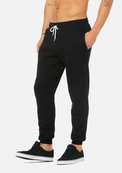 mens weekend jogger black