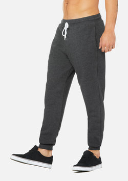 mens weekend jogger dark grey heather