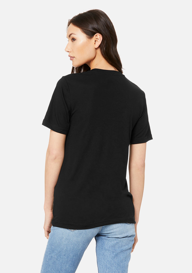 womens boyfriend tee black