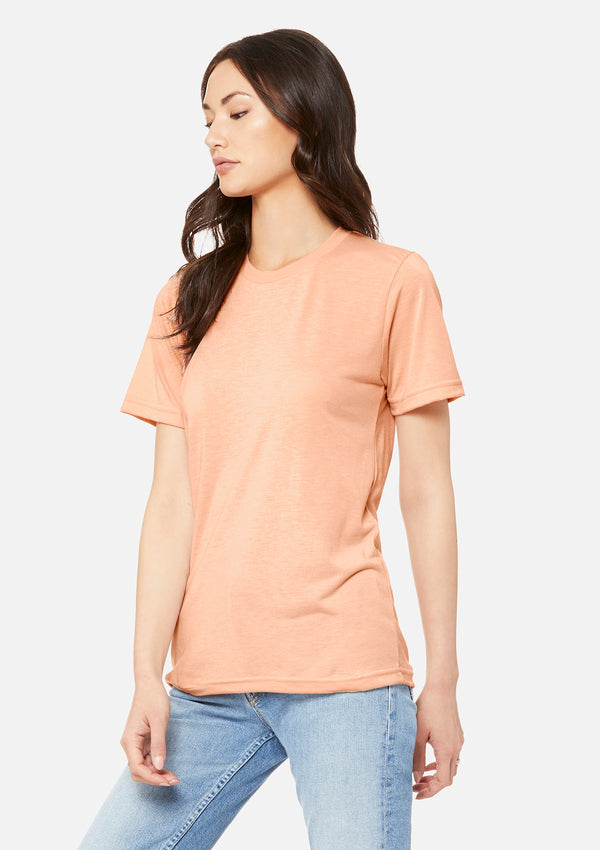 womens boyfriend tee peach