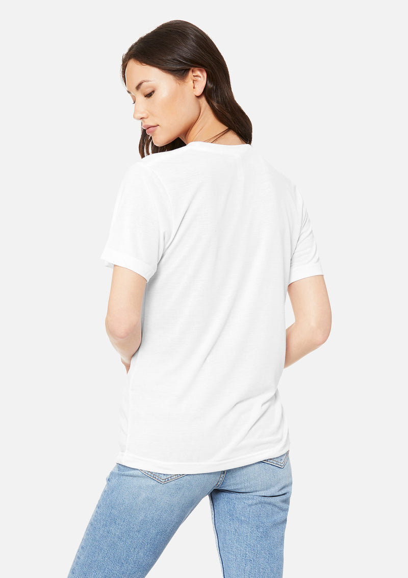 womens boyfriend tee white