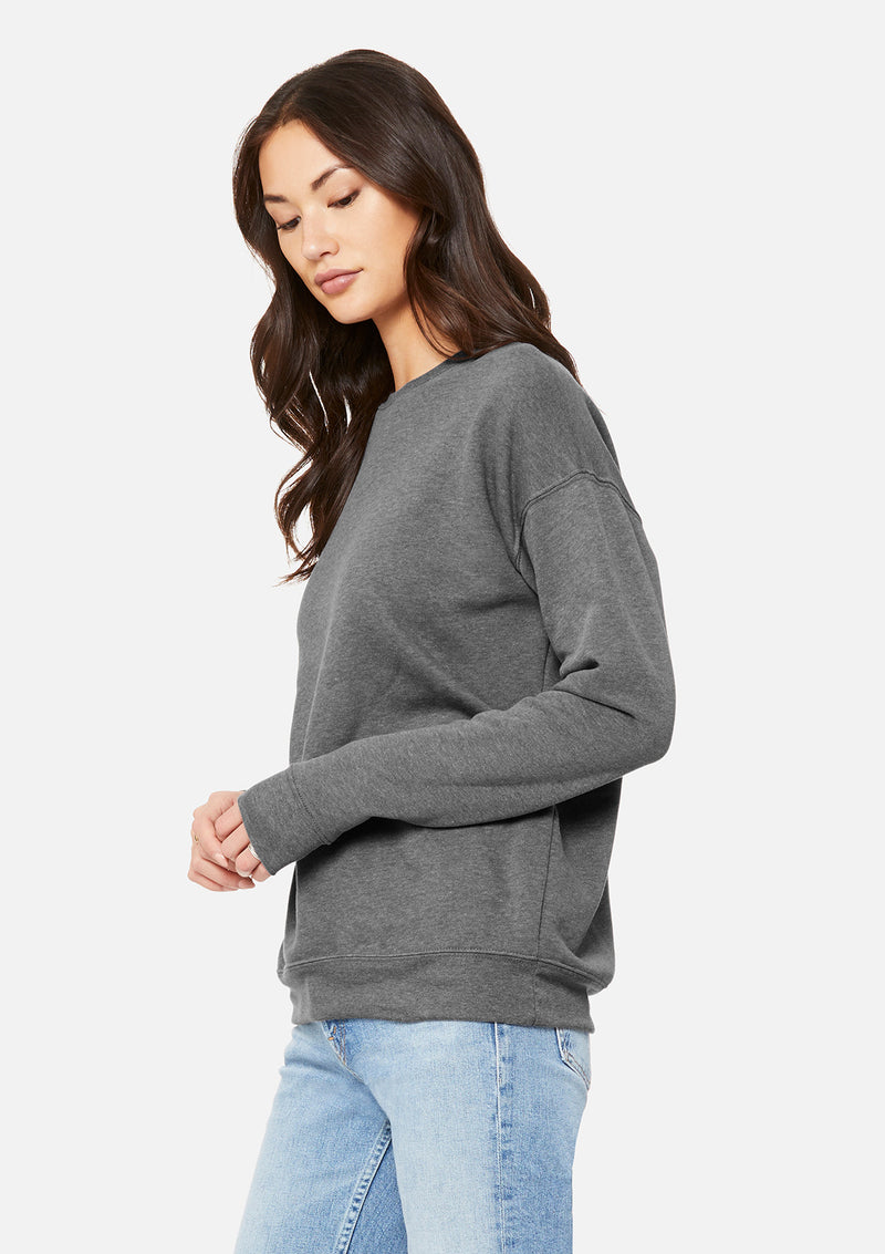 womens boyfriend crew sweatshirt deep heather