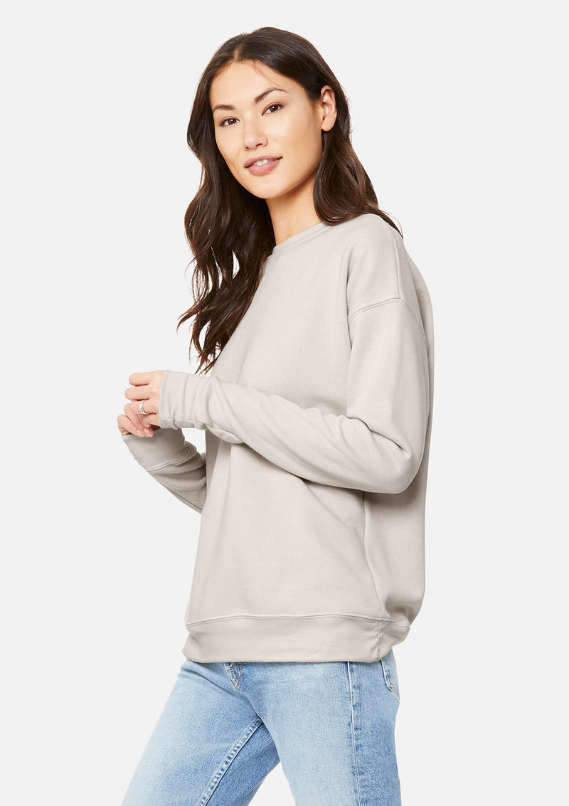womens boyfriend crew sweatshirt heather dust