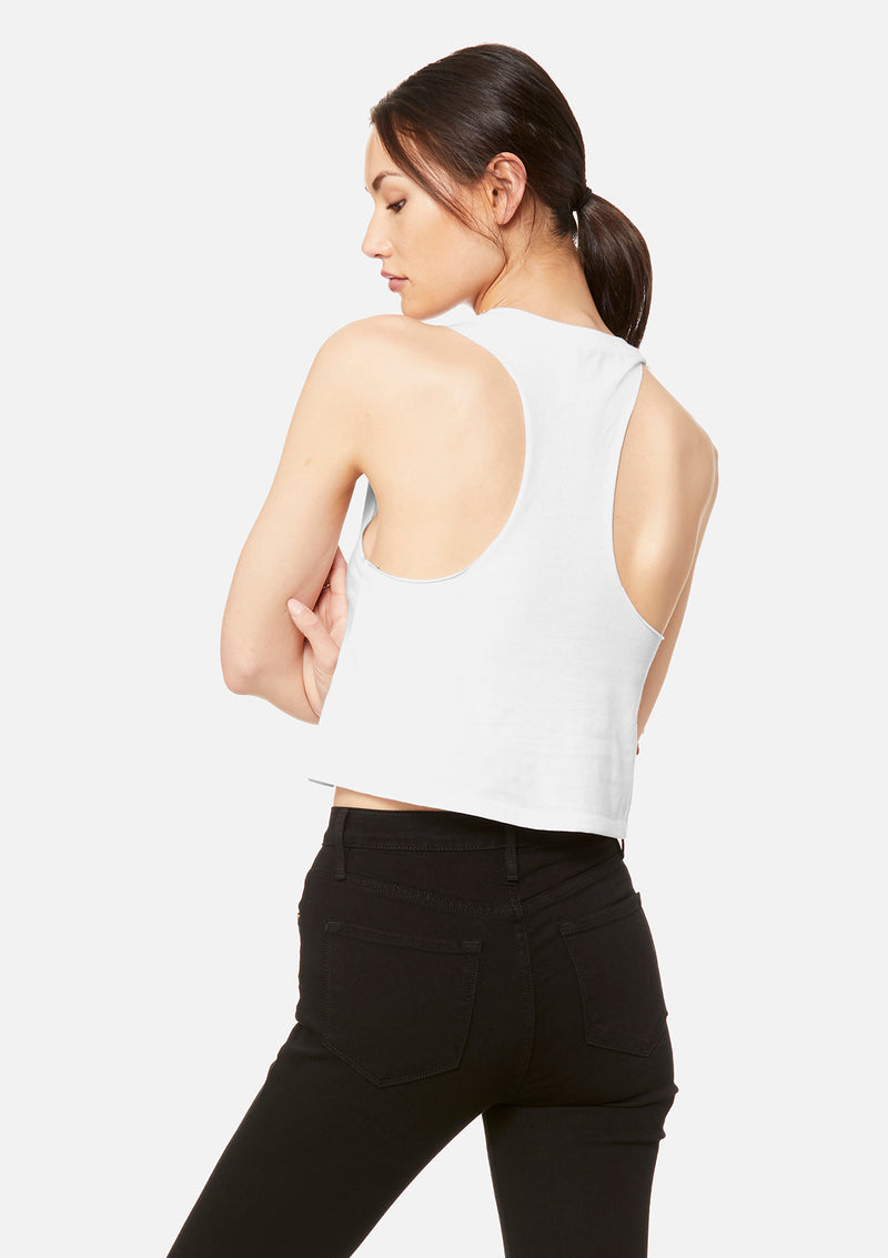 womens crop tank white
