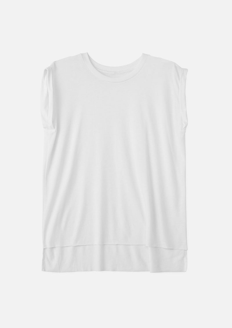 womens muscle tee white