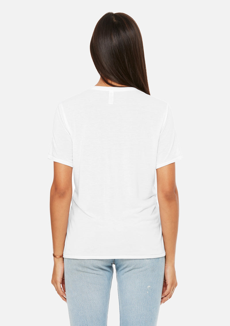 womens pocket tee white